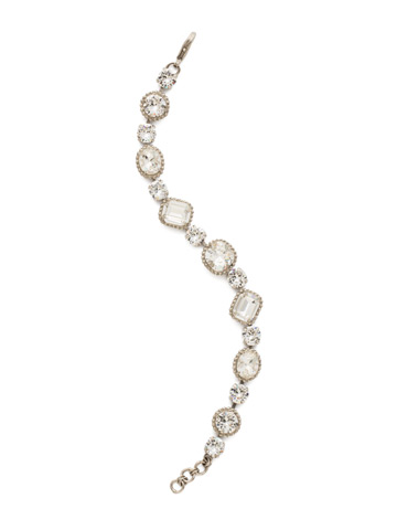 Dahlia Bracelet in Antique Silver-tone Crystal