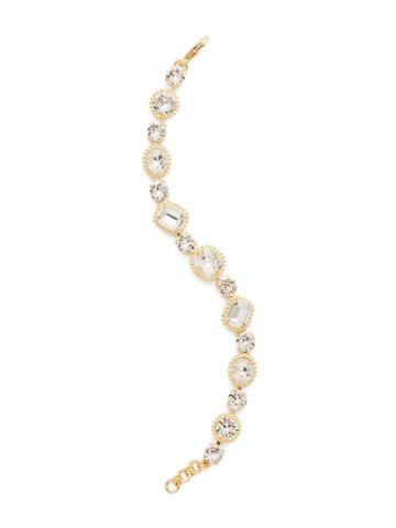 Dahlia Bracelet in Bright Gold-tone Crystal