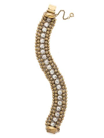 Jessamine Bracelet in Antique Gold-tone Crystal