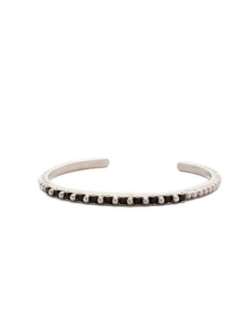 Sakura Bracelet in Antique Silver-tone Black Onyx