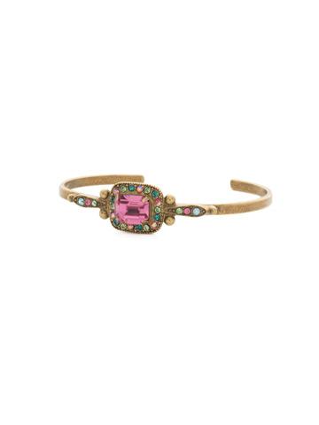 Opulent Octagon Bracelet in Antique Gold-tone Happy Birthday