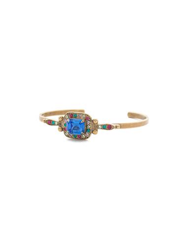 Opulent Octagon Bracelet in Antique Gold-tone Wildflower