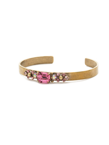 Constellation Bracelet in Antique Gold-tone Pink Passion