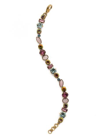 Constantia Bracelet in Antique Gold-tone Royal Plum