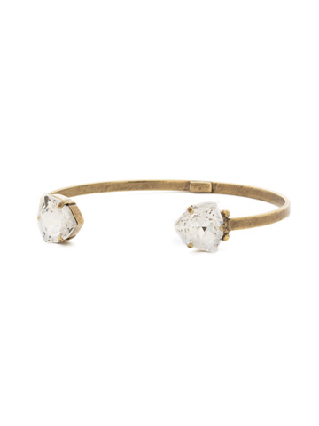 Perfectly Pretty Cuff Bracelet in Antique Gold-tone Crystal