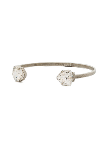 Perfectly Pretty Cuff Bracelet in Antique Silver-tone Crystal