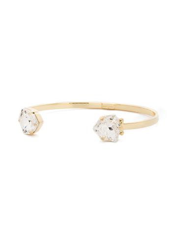 Perfectly Pretty Cuff Bracelet in Bright Gold-tone Crystal
