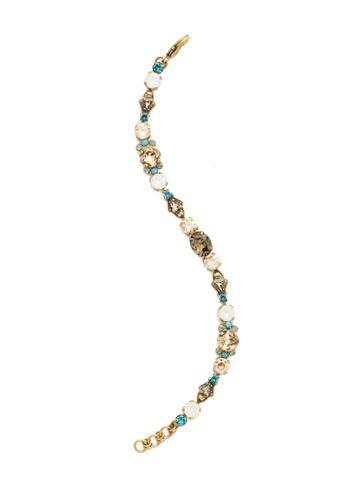 Mirabella Line Bracelet in Antique Gold-tone Driftwood