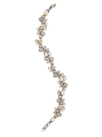 Linden Bracelet in Antique Silver-tone Satin Blush