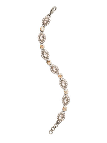 Moonflower Bracelet in Antique Silver-tone Satin Blush