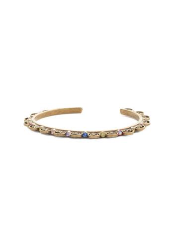 Foxglove Bracelet in Antique Gold-tone Wildflower