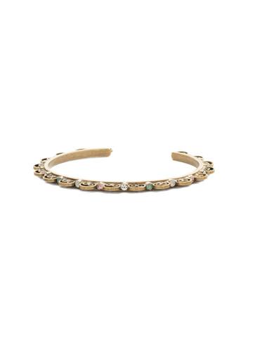 Foxglove Bracelet in Antique Gold-tone White Magnolia