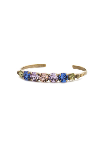 Lilac Bracelet in Antique Gold-tone Wildflower