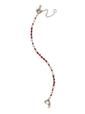 The Skinny Bracelet in Antique Silver-tone Crimson Pride