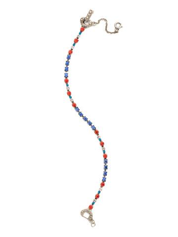 The Skinny Bracelet in Antique Silver-tone Orange Crush