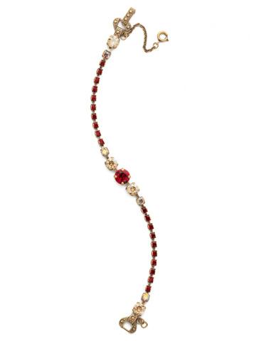 Round Up Bracelet in Antique Gold-tone Go Garnet
