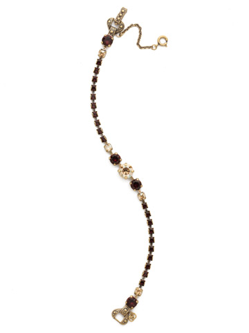 Round Up Bracelet in Antique Gold-tone Mighty Maroon