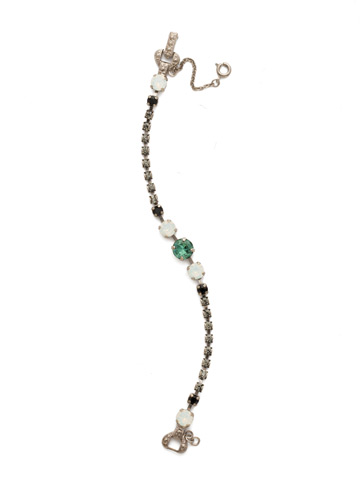 Round Up Bracelet in Antique Silver-tone Game Day Green