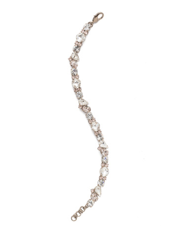 Daffodil Bracelet in Antique Silver-tone Soft Petal