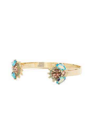 California Poppy Cuff Bracelet in Bright Gold-tone Mango Tango