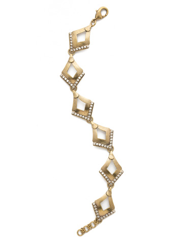 Tri To Love Bracelet in Antique Gold-tone Crystal