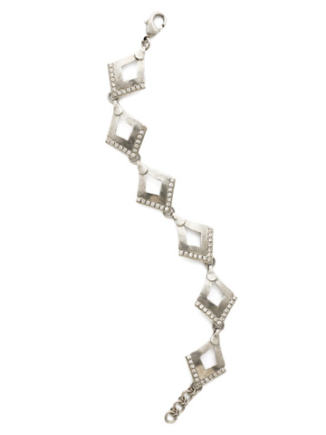 Tri To Love Bracelet in Antique Silver-tone Crystal