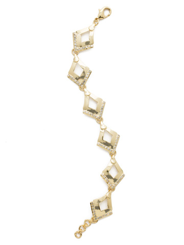 Tri To Love Bracelet in Bright Gold-tone Crystal