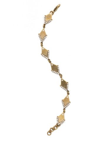 Stand Out Bracelet in Antique Gold-tone Crystal