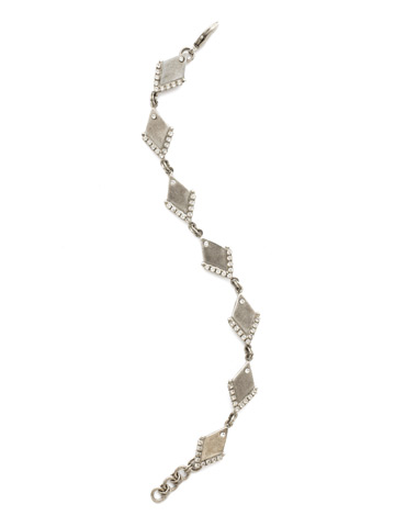 Stand Out Bracelet in Antique Silver-tone Crystal