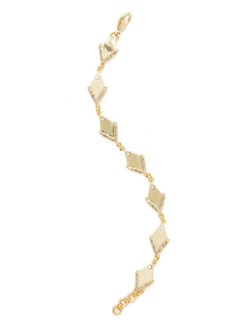 Stand Out Bracelet in Bright Gold-tone Crystal