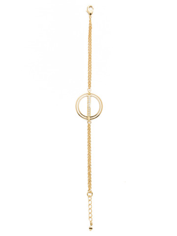 Mini Running In Circles Bracelet in Bright Gold-tone Crystal
