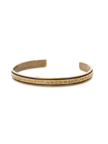 Make It Simple Cuff Bracelet in Antique Gold-tone Crystal