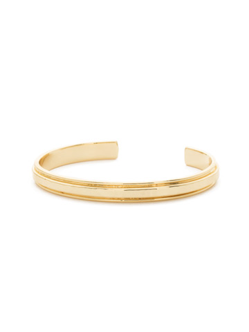 Make It Simple Cuff Bracelet in Bright Gold-tone Crystal
