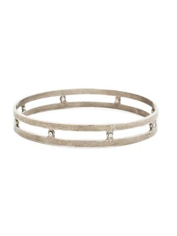 Hold It Together Bracelet in Antique Silver-tone Crystal
