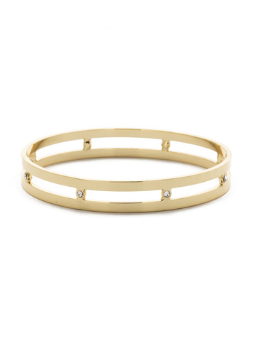 Hold It Together Bracelet in Bright Gold-tone Crystal