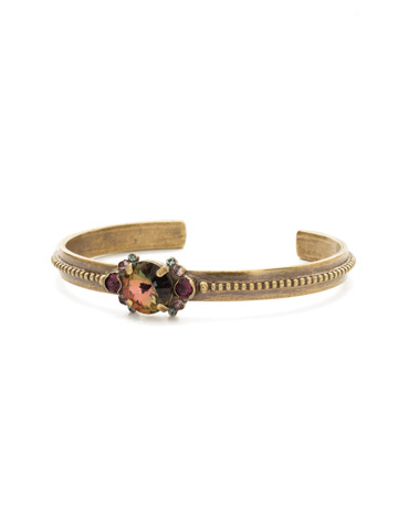 Pallida Bracelet in Antique Gold-tone Royal Plum