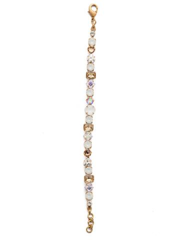 Sedge Classic Line Bracelet in Antique Gold-tone Rocky Beach
