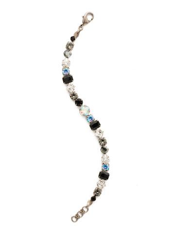 Sedge Classic Line Bracelet in Antique Silver-tone Black Tie