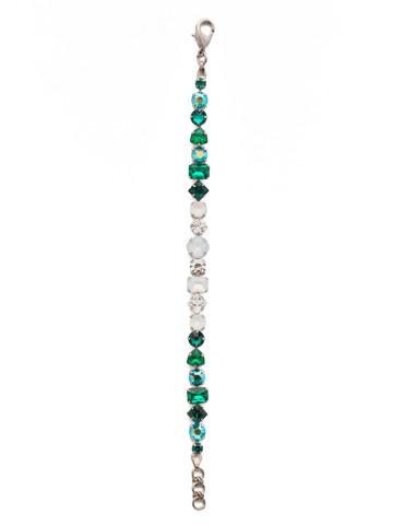 Sedge Classic Line Bracelet in Antique Silver-tone Snowy Moss