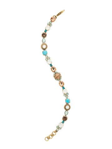 Chiara Line Bracelet in Antique Gold-tone Driftwood