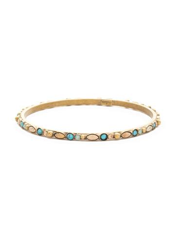Emilia Delicate Bangle Bracelet in Antique Gold-tone Driftwood