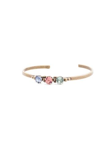 Giordana Cuff Bracelet in Antique Gold-tone Bohemian Bright