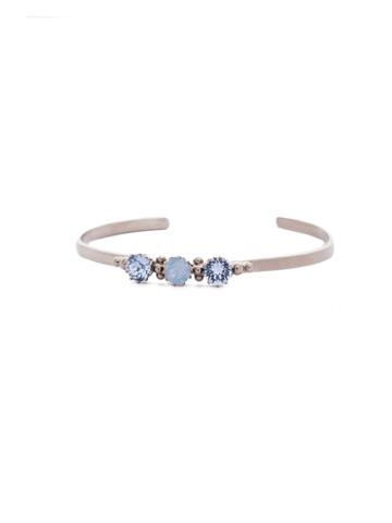Giordana Cuff Bracelet in Antique Silver-tone Pastel Prep