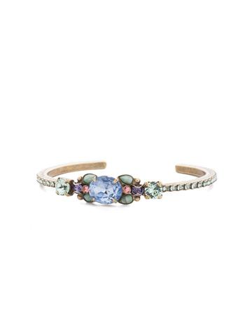 Mariella Cuff Bracelet in Antique Gold-tone Bohemian Bright