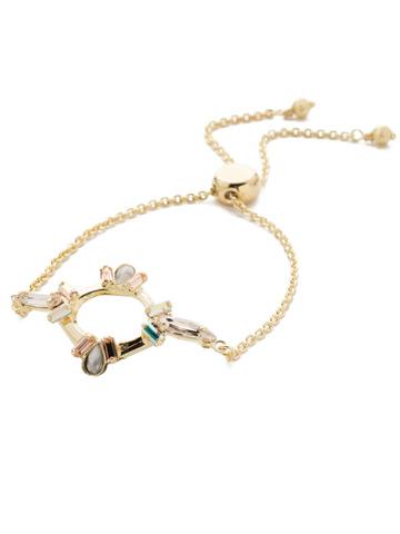 Nevaeh Adjustable Slider Bracelet in Bright Gold-tone Silky Clouds