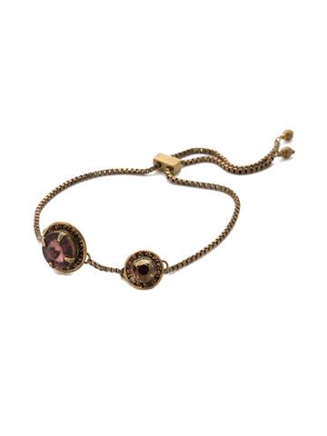Dua Slider Bracelet in Antique Gold-tone Mighty Maroon