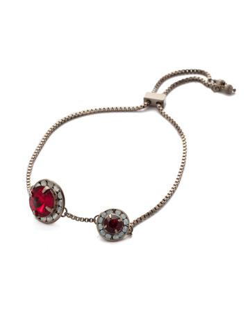 Dua Slider Bracelet in Antique Silver-tone Crimson Pride