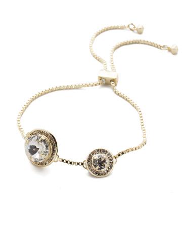 Dua Slider Bracelet in Bright Gold-tone Crystal