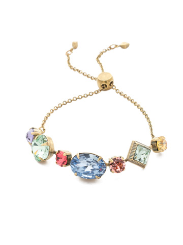 Primavera Slider Bracelet in Antique Gold-tone Bohemian Bright