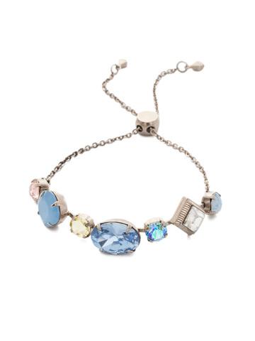 Primavera Slider Bracelet in Antique Silver-tone Pastel Prep